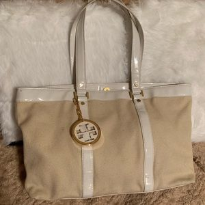Large Tory Burch canvas tote 💖